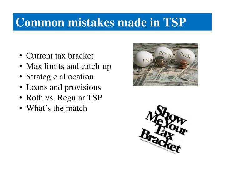 Common mistakes made in TSP