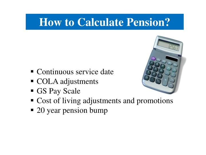 How to Calculate Pension?