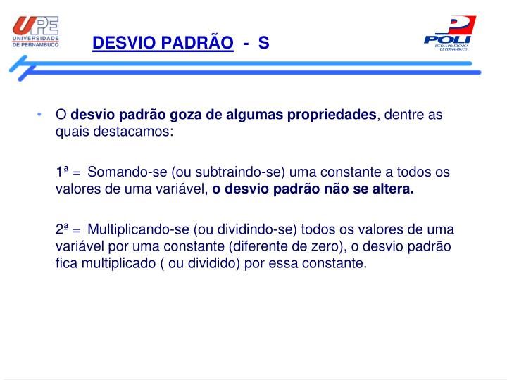 DESVIO PADRÃO