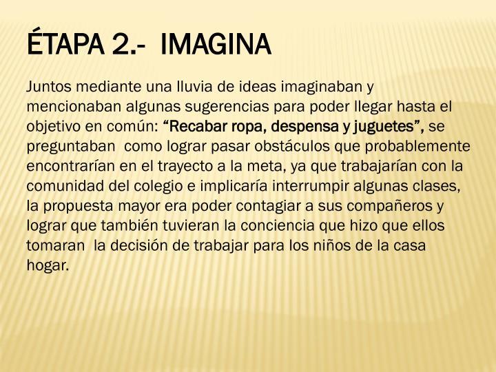 ÉTAPA 2.-  IMAGINA