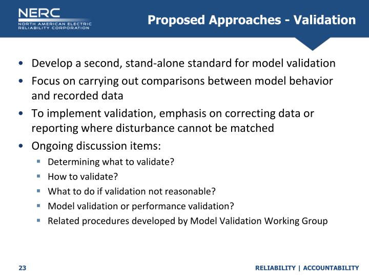 Proposed Approaches - Validation