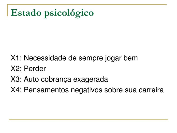 Estado psicológico
