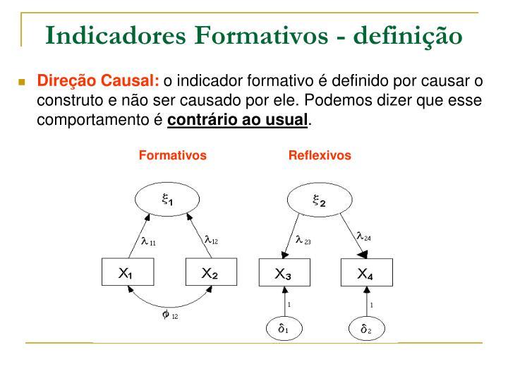 Indicadores Formativos - definição