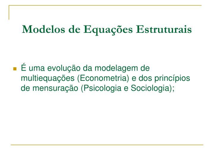 Modelos de Equações Estruturais