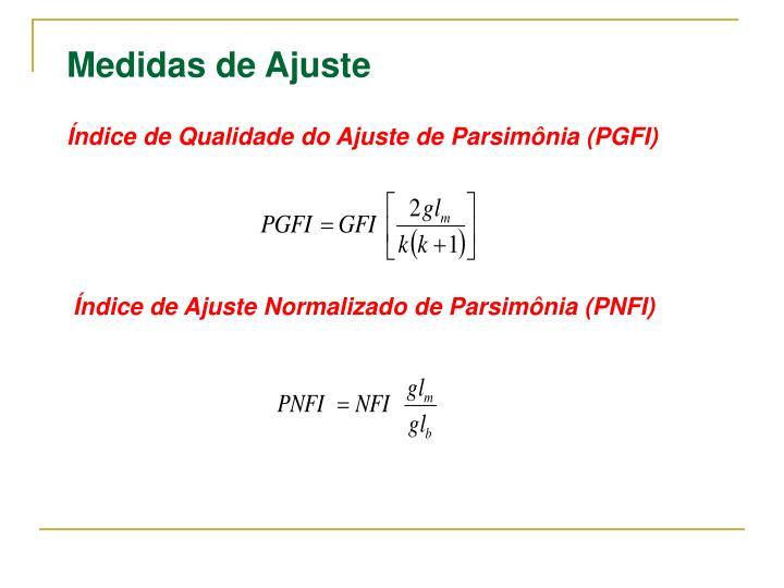 Índice de Qualidade do Ajuste de Parsimônia (PGFI)