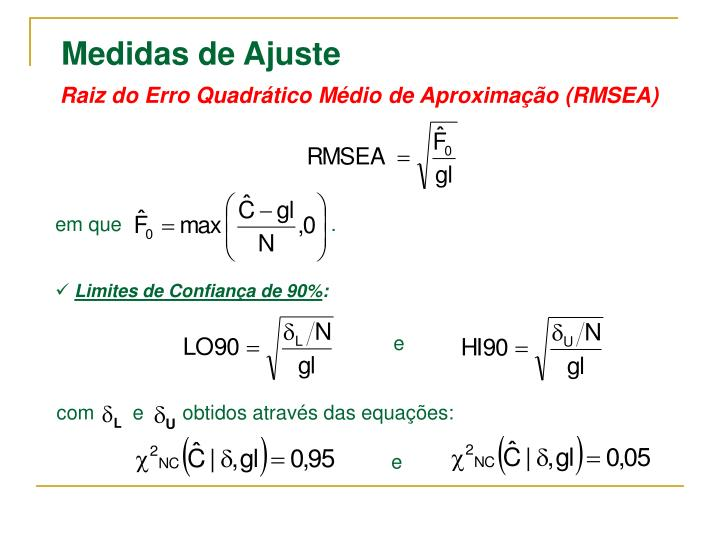Raiz do Erro Quadrático Médio de Aproximação (RMSEA)