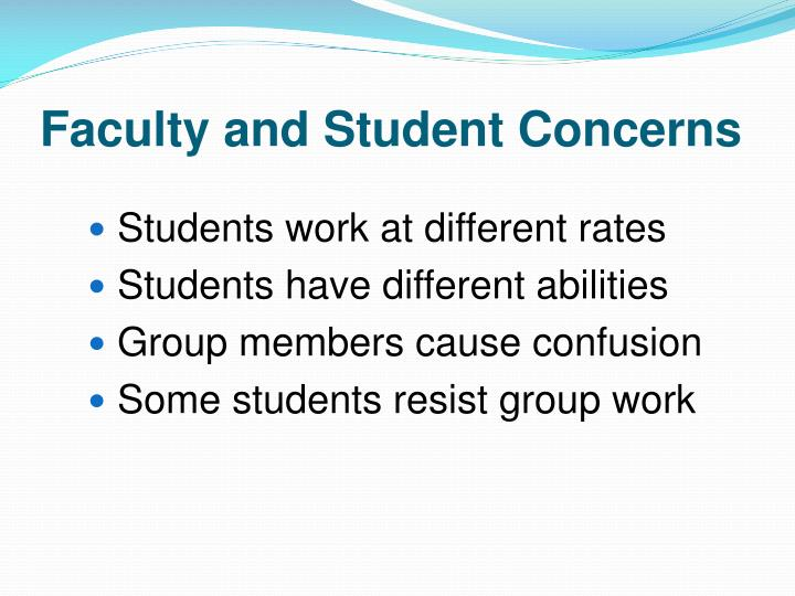 Faculty and Student Concerns