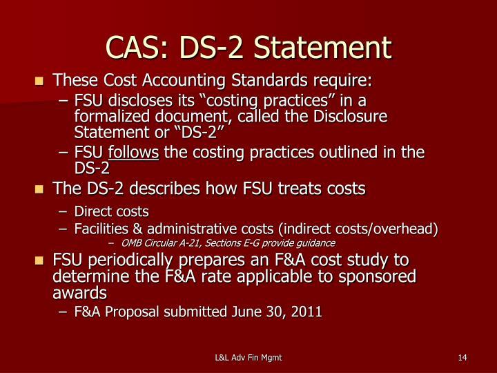 CAS: DS-2 Statement