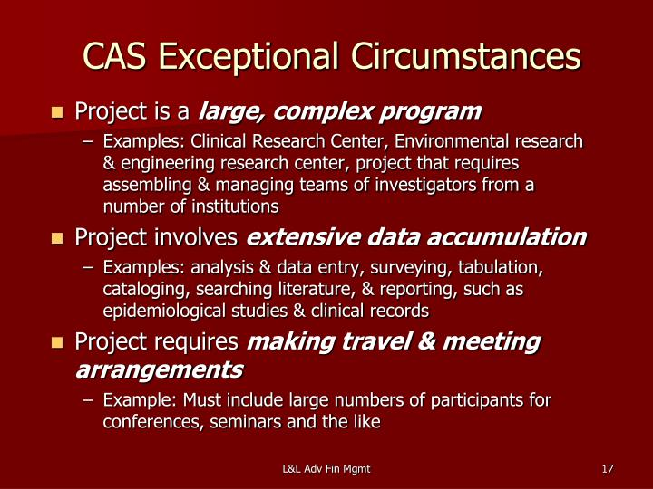 CAS Exceptional