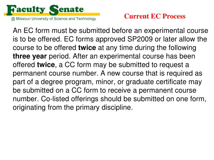 Current EC Process