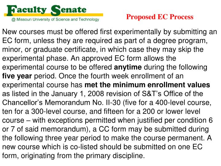 Proposed EC Process