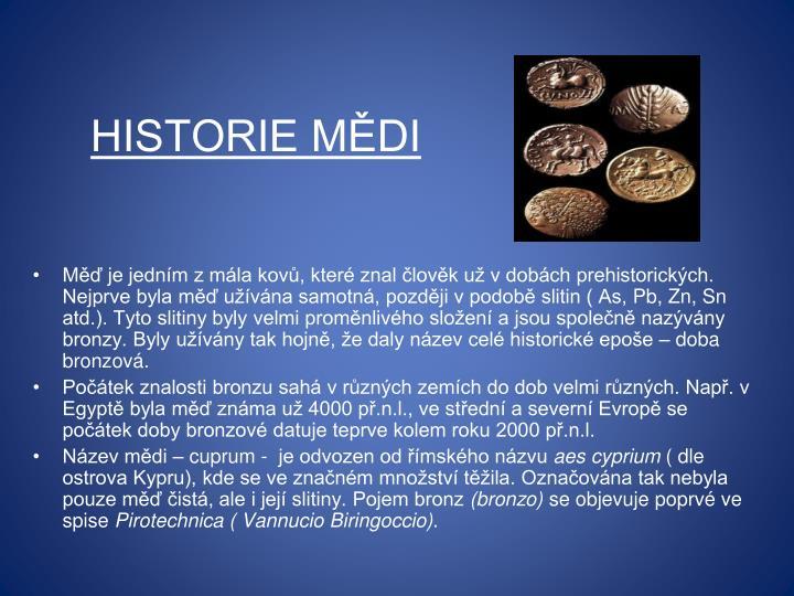 Historie mědi