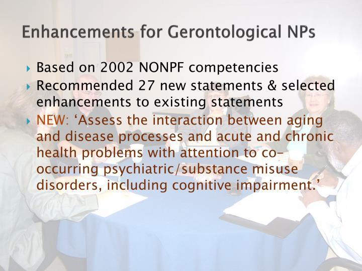 Enhancements for Gerontological NPs