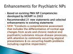 enhancements for psychiatric nps