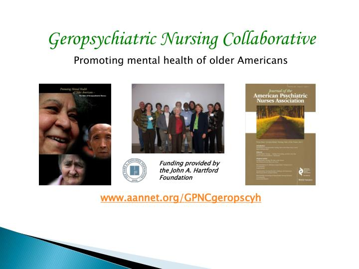 Geropsychiatric Nursing Collaborative