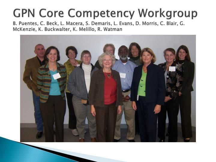 GPN Core Competency Workgroup