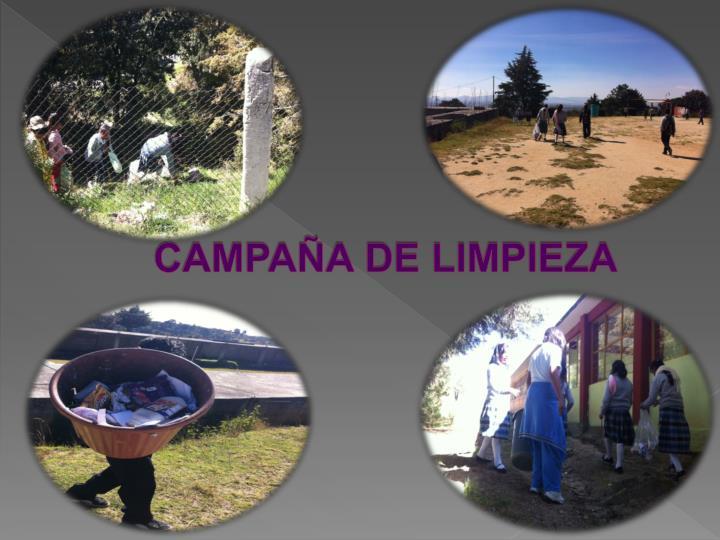 CAMPAÑA DE LIMPIEZA