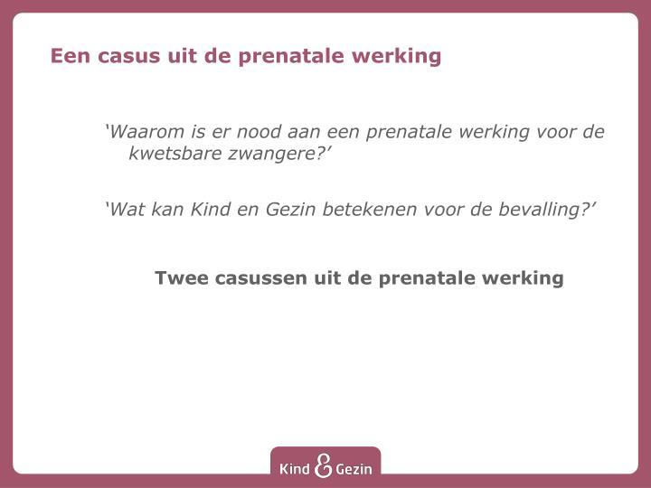 Een casus uit de prenatale werking