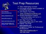 test prep resources