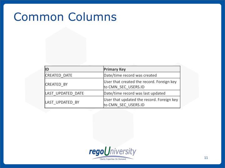 Common Columns
