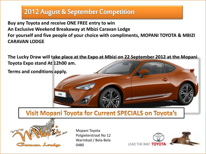 2012 August & September Competition