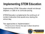 implementing stem education