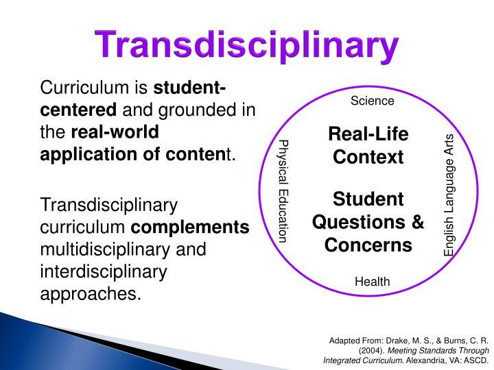 Transdisciplinary