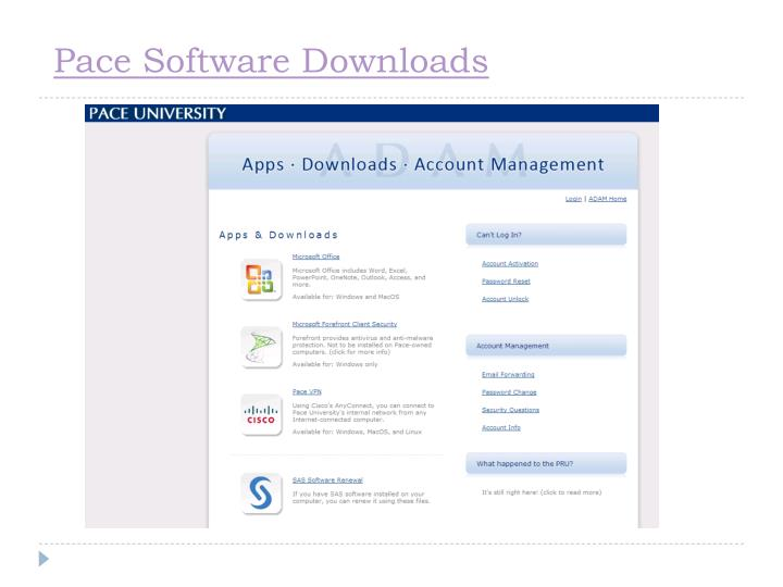 Pace Software Downloads
