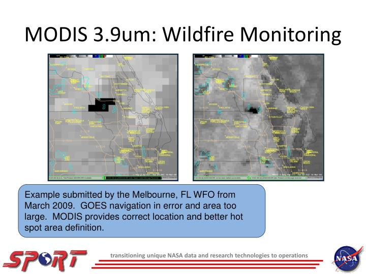 MODIS 3.9um: Wildfire Monitoring