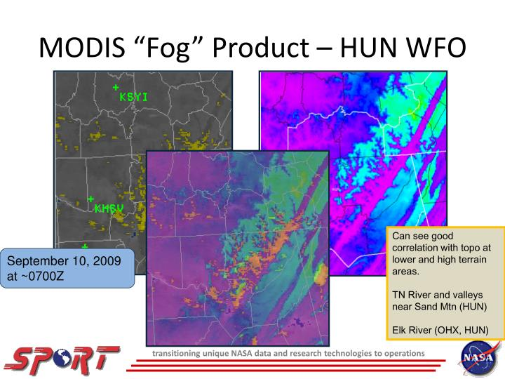 "MODIS ""Fog"" Product – HUN WFO"