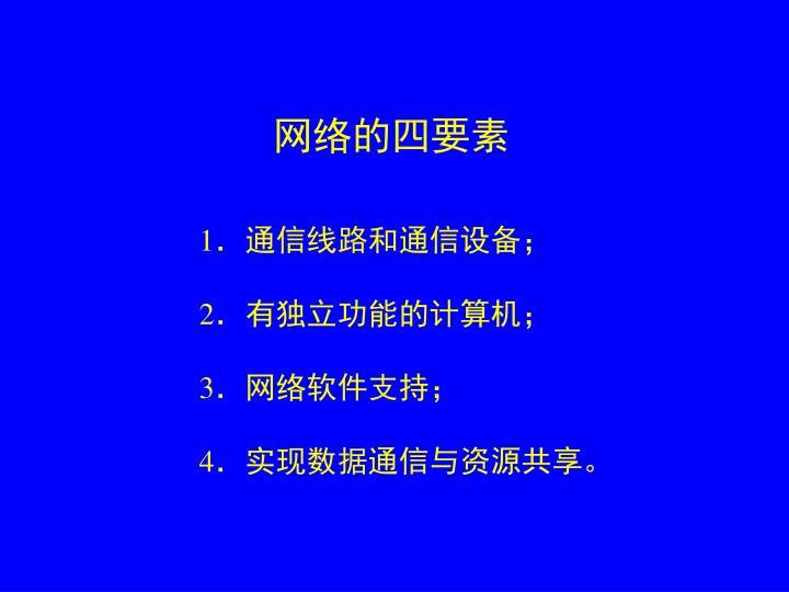 网络的四要素