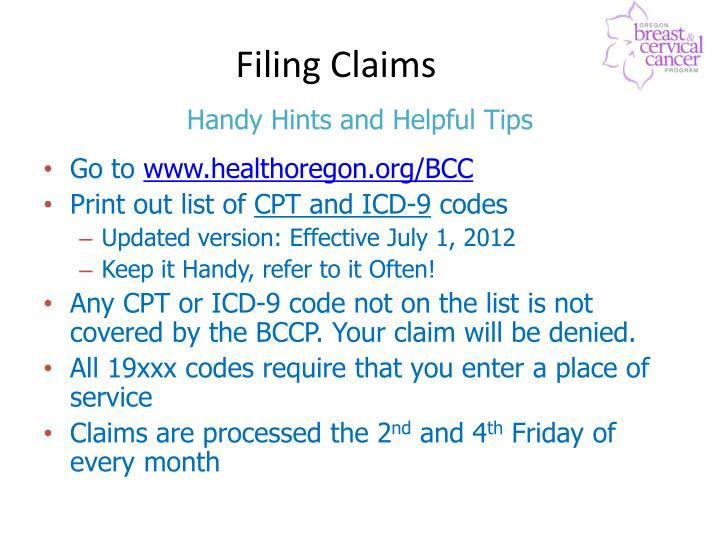 Filing Claims