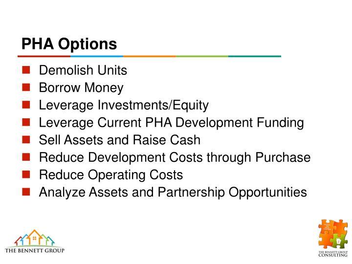 PHA Options
