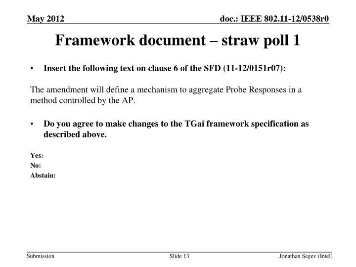 Framework document –