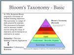 bloom s taxonomy basic