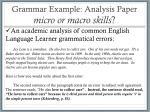 grammar example analysis paper micro or macro skills