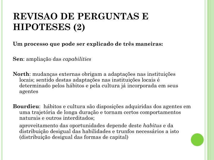 REVISAO DE PERGUNTAS E HIPOTESES (2)
