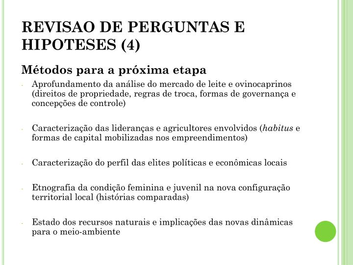 REVISAO DE PERGUNTAS E HIPOTESES (4)