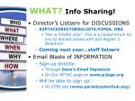 what info sharing