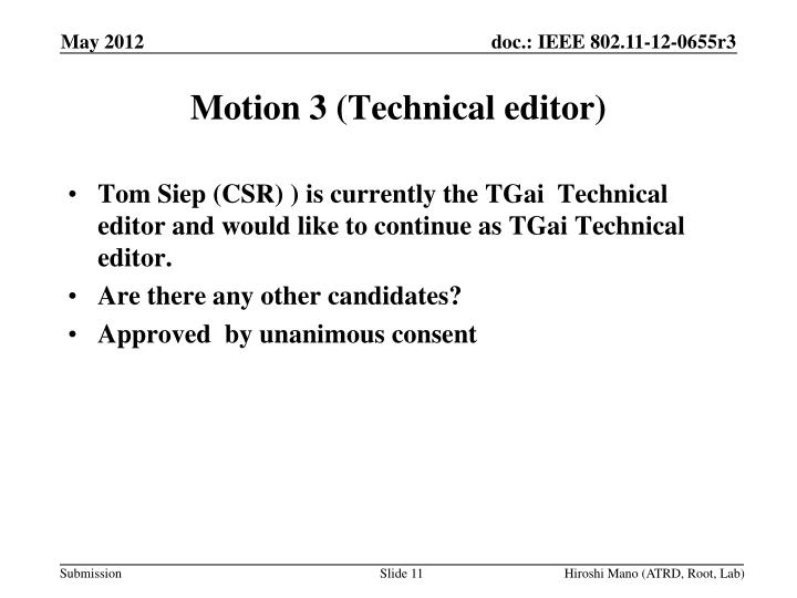 Motion 3 (Technical editor)