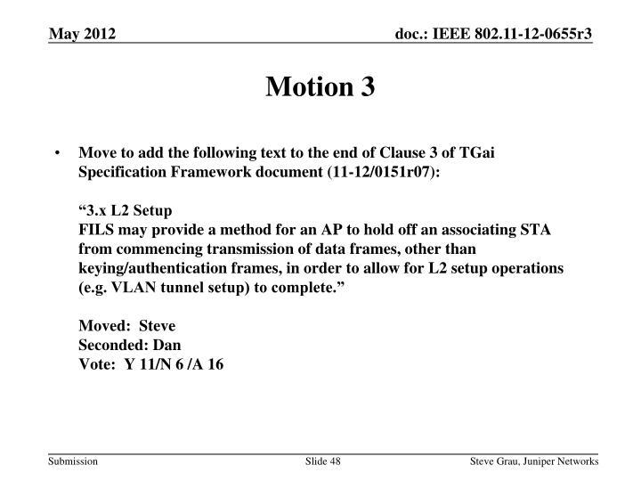 Motion 3