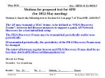 motions for proposed t ext for sfd for 2012 may meeting