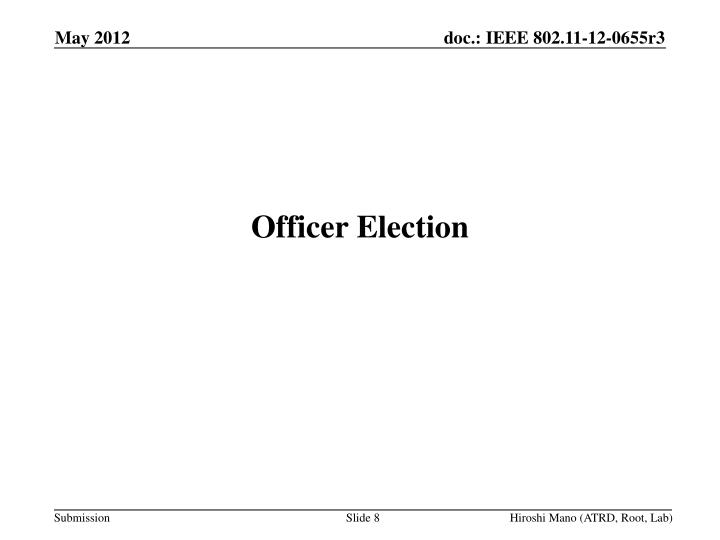 Officer Election