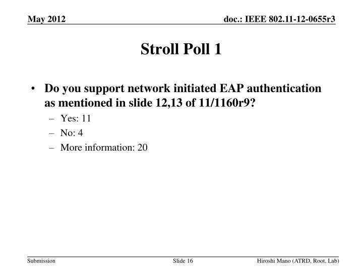 Stroll Poll 1