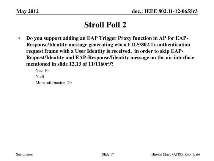Stroll Poll 2