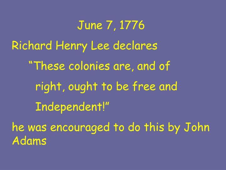 June 7, 1776