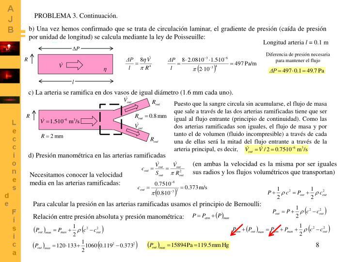 PROBLEMA 3. Continuación.