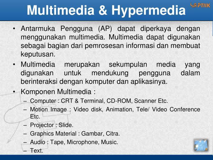 Multimedia & Hypermedia