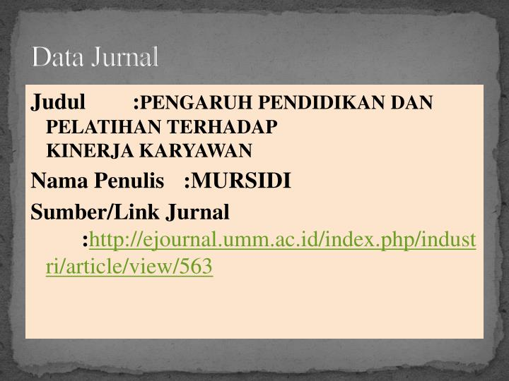 Data Jurnal