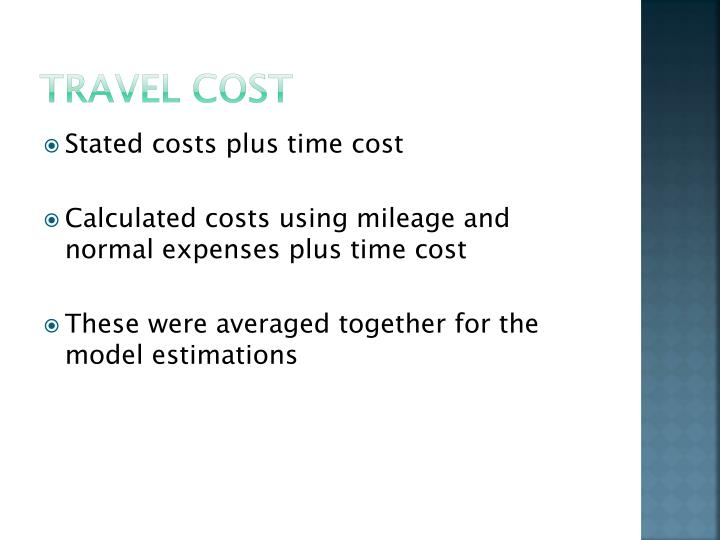 Travel Cost